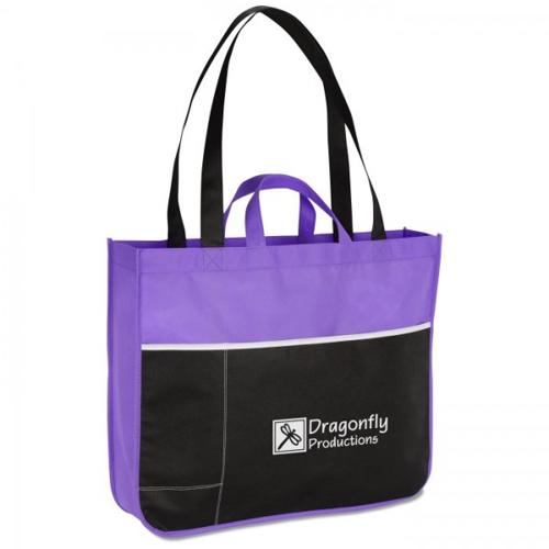 Double Handle Tote Bag Non Woven Shopping