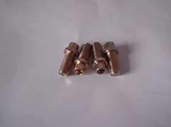 Double Head Hex Bolts With Drilled Holes For Floor Mat Of Treadmill Fitness