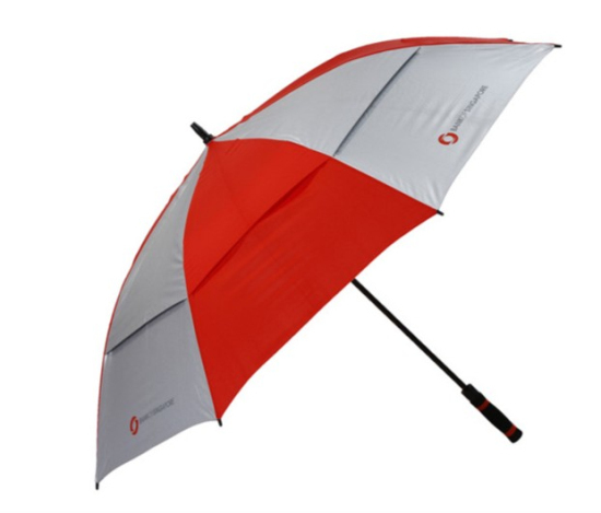 Double Layer Anti Uv Promotional Straight Golf Umbrella