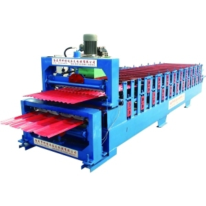 Double Layer Roll Forming Machine Could Press Two Kinds Of Panel Shape