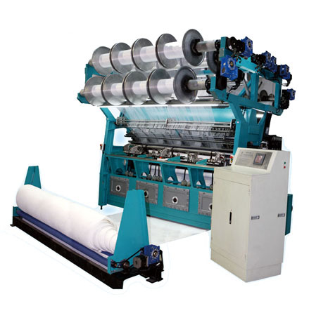 Double Needle Bar Raschel Warp Knitting Machine For Spacer Fabrics And Plus