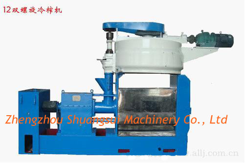 Double Screw Cold And Heat Oil Press Machine