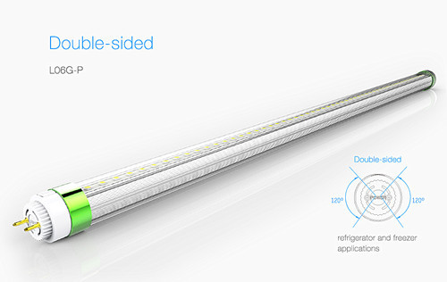 Double Sides Lighting T8 Led Tube L06g P Refrigerator And Freezer Applicati