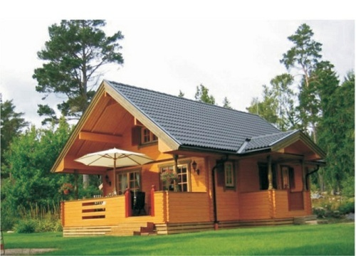 Double Story Wooden Houses Living In Green And Grace Dy D 034