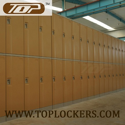 Double Tier Abs Plastic Cabinets Yellow Color
