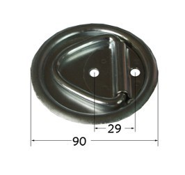 Down Ring Heavy Duty Recessed Floor Spring Latch Snap Latch131090am