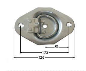 Down Ring Heavy Duty Recessed Floor Spring Latch Snap Latch131126am