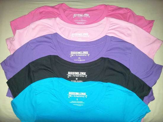 Drumline Brand Ladies T Shirts Stocklot