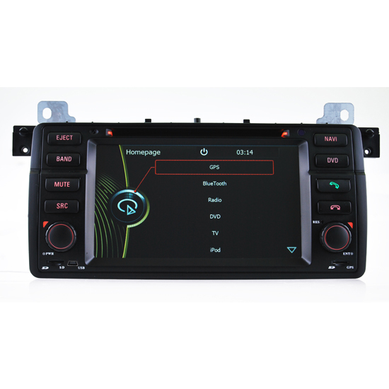Dvd Navigation Of Bmw E46 With Radio Tv Ipod Bluetooth Function