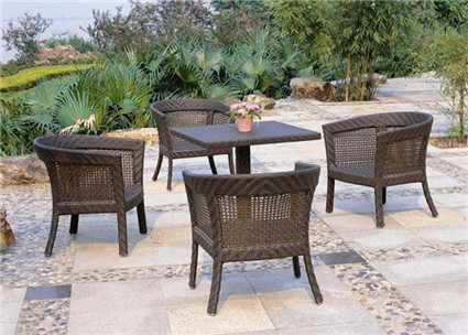 Eastern Traditional Rattan Dining Set