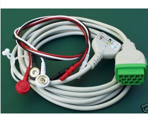 Ecg Cable With 3 Leads Ge Marquette Eagle Dash Ekg Trunk Din Style Warranty
