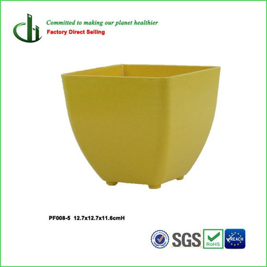 Eco Friendly Bamboo Fiber Square Flower Pot