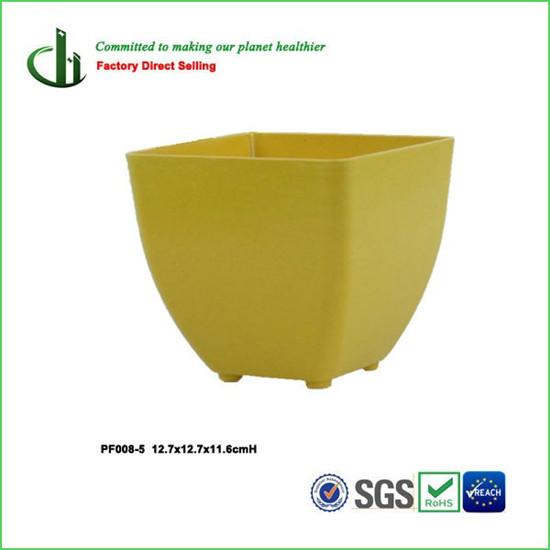 Eco Friendly Bamboo Fiber Square Flower Pot