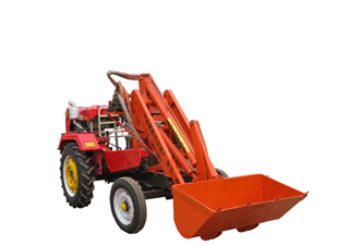 Electric Tractor Loader With 1200mm Width Bucket And Solid