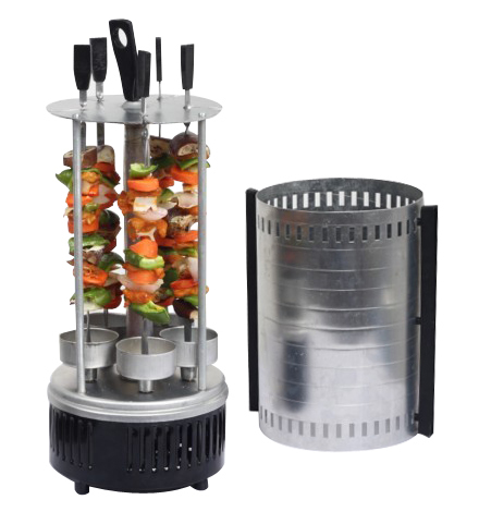 Electric Vertical Bbq Grill With Rotisserie