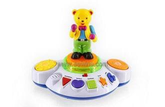 Electronic Music Toys With Rotating Bear Eew110419536