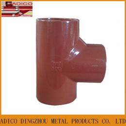 En877 Epoxy Painting Cast Iron Drainage Tee Pipe Fittings
