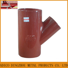 En877 Red Cast Iron Branch Tee Pipe Fittings