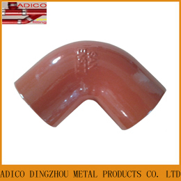 En877 Red Epoxy Paint Bend Drainage Pipe Fittings