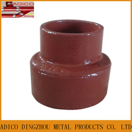 En877 Red Epoxy Painting Waste Water Reducer Pipe Fitting
