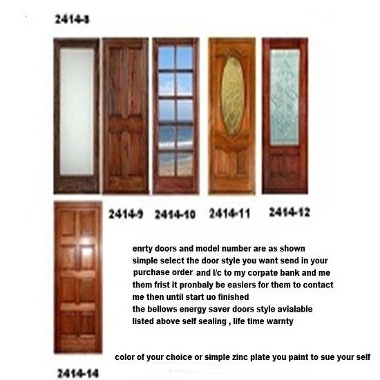 Energy Saver Entry Door Model Solid Construction Self Sealing