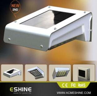 Eshine 16 Leds Solar Motion Sensor Wall Garden Light