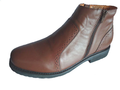 Europe Style Brown Men Leather Boots H5321 1