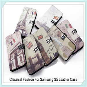Europe Style Leather Case For Samsung Galaxy S5 I9600