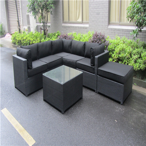 European Style Luxury Garden Rattan Sofa Set