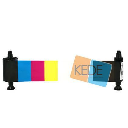 Evolis R3013 Ymcko Half Panel Color Compatible Ribbon