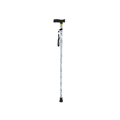Extendable Plastic Handled Patterned Walking Stick