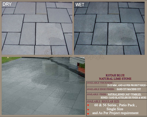 Factory Made Kota Blue Lime Stone