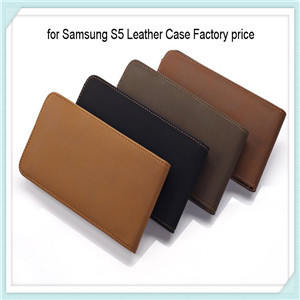 Factory Price For Samsung S5 Leather Case