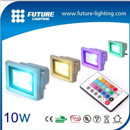 Factory Super Bright Ip65 24 Volt Outdoor 10w Rgb Tuv Led Floodlight
