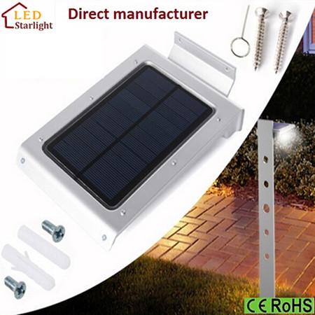 Factory Supply Solar Sensor Garden Wall Lighting Lamps