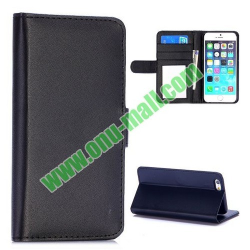 Fashion Magnetic Flip Stand Pc Pu Leather Case For Iphone 6 Plus 5 Inch Bla