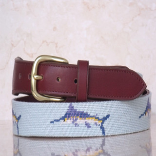 Fashion Needlepoint Belt With Swordfish