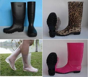 Fashion Pvc Rain Boots For Women