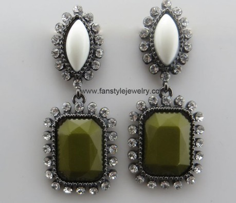 Fashion Rhinestone Earrings Wholesale From China
