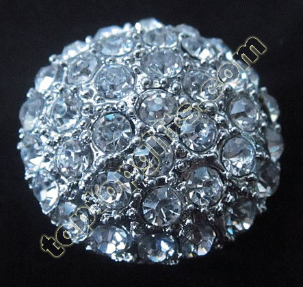 Fashion Round Rhinestone Middle East Button
