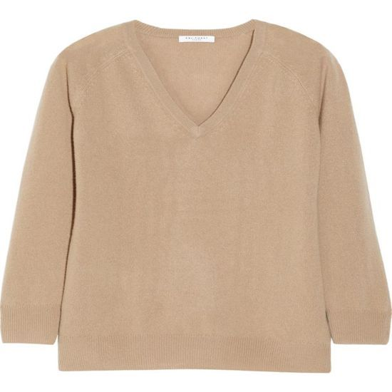 Fashion Women V Neck Pure Cashmere Sweater