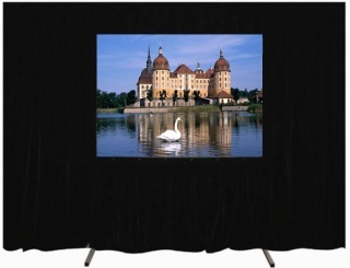 Fast Fold Large Front And Rear Projection Outdoor Stage Screen With Drape K