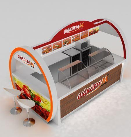 Fast Food Kiosk For Indoor Model Veggie