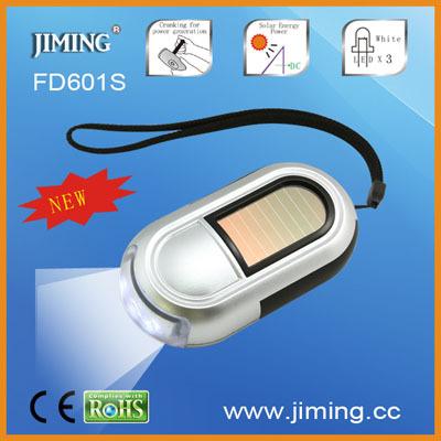 Fd601s Solar Dynamo Led Flashlight