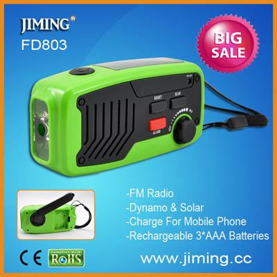 Fd803 Solar And Dynamo Led Flashlight With Radio
