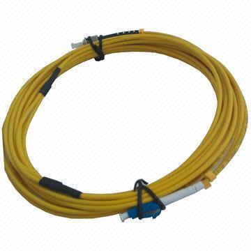 Fiber Optic Distribution Bundle Cable 2 Single Mode Lc To St Breakout 3 0mm