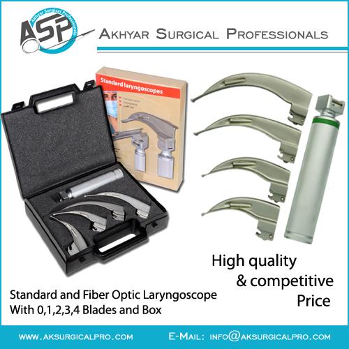 Fiber Optic Laryngoscope Sets