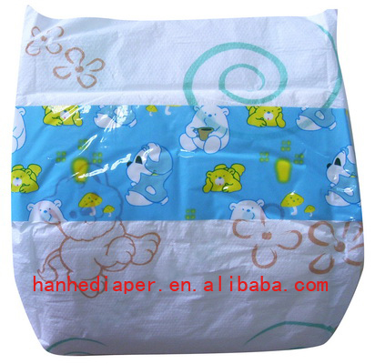 Fine Baby Diaper With Pe Tape