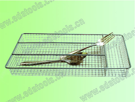 Five Sections Stainless Steel Wire Cutlery Tray