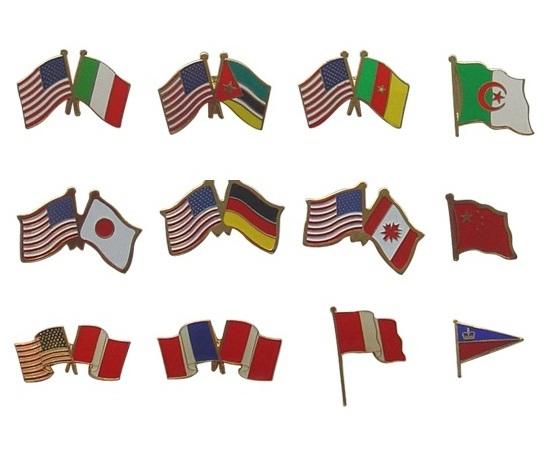 Flag Badges In The Craft Of Die Struck Soft Enamel